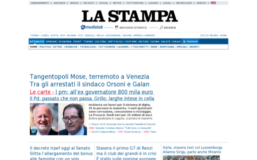 Access lastampa.it using Hola Unblocker web proxy