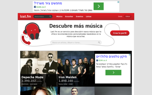 Access lastfm.es using Hola Unblocker web proxy