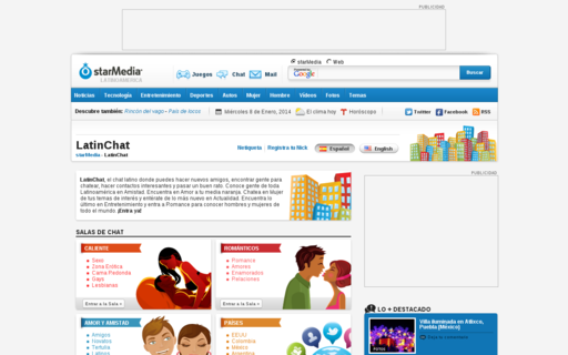 Access latinchat.com using Hola Unblocker web proxy
