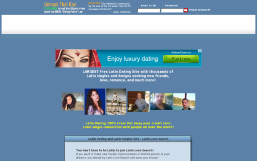 Access latinlovesearch.com using Hola Unblocker web proxy