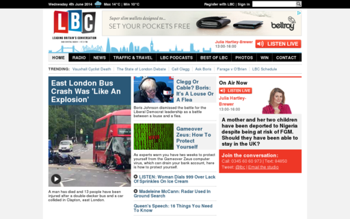 Access lbc.co.uk using Hola Unblocker web proxy