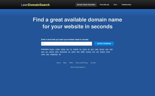 Access leandomainsearch.com using Hola Unblocker web proxy