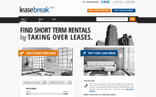 Access leasebreak.com using Hola Unblocker web proxy
