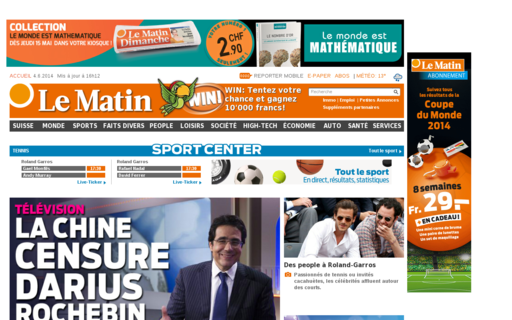 Access lematin.ch using Hola Unblocker web proxy