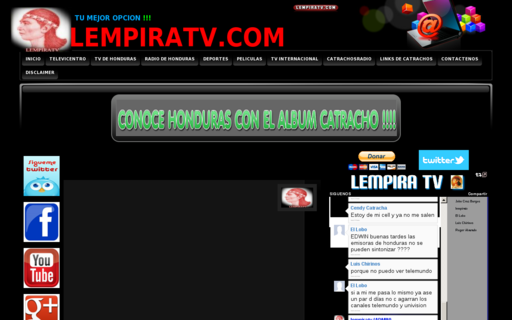 Access lempiratv.com using Hola Unblocker web proxy