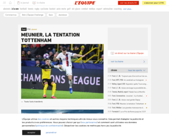 Access lequipe.fr using Hola Unblocker web proxy