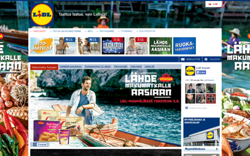 Access lidl.fi using Hola Unblocker web proxy