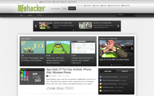 Access lifehacker.com.au using Hola Unblocker web proxy