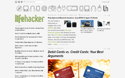 Access lifehacker.com using Hola Unblocker web proxy