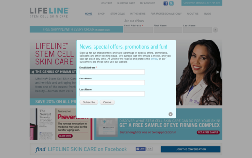 Access lifelineskincare.com using Hola Unblocker web proxy