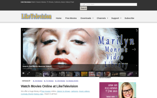 Access liketelevision.com using Hola Unblocker web proxy