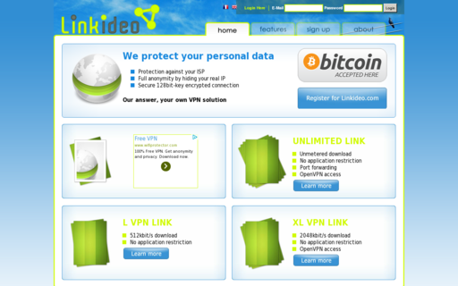 Access linkideo.com using Hola Unblocker web proxy