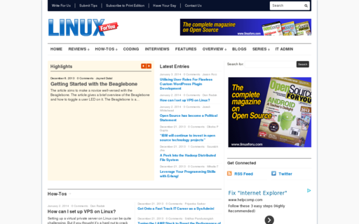 Access linuxforu.com using Hola Unblocker web proxy