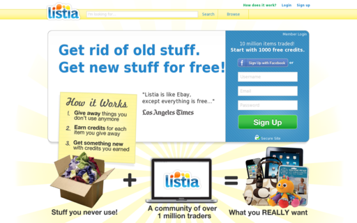 Access listia.com using Hola Unblocker web proxy