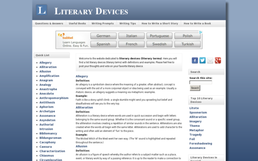 Access literary-devices.com using Hola Unblocker web proxy