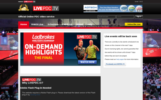 Access livepdc.tv using Hola Unblocker web proxy