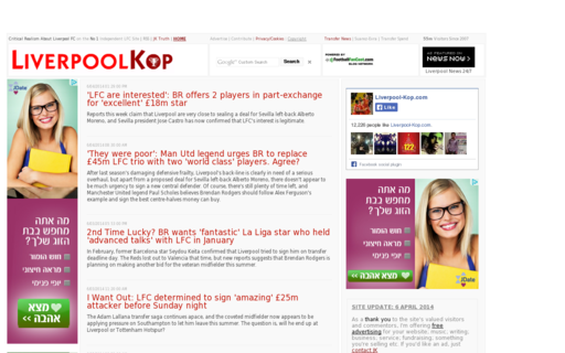 Access liverpool-kop.com using Hola Unblocker web proxy