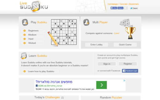 Access livesudoku.com using Hola Unblocker web proxy