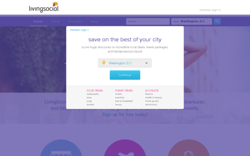 Access livingsocial.co.uk using Hola Unblocker web proxy