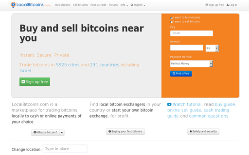 Access localbitcoins.com using Hola Unblocker web proxy