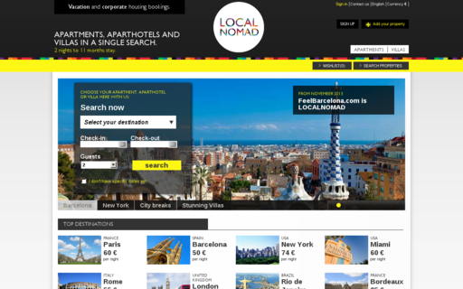 Access localnomad.com using Hola Unblocker web proxy