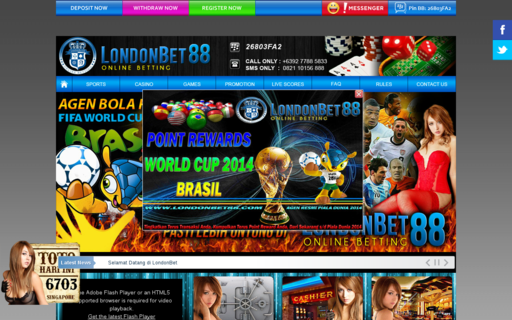 Access londonbet88.com using Hola Unblocker web proxy
