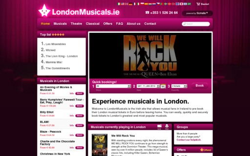 Access londonmusicals.ie using Hola Unblocker web proxy