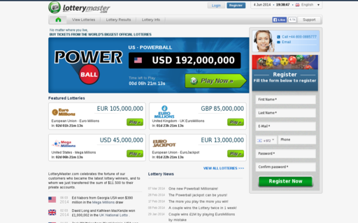 Access lotterymaster.com using Hola Unblocker web proxy