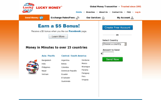 Access luckymoney.com using Hola Unblocker web proxy