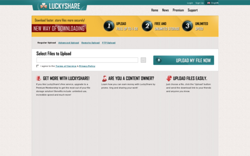 Access luckyshare.net using Hola Unblocker web proxy