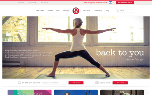 Access lululemon.com using Hola Unblocker web proxy