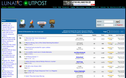 Access lunaticoutpost.com using Hola Unblocker web proxy