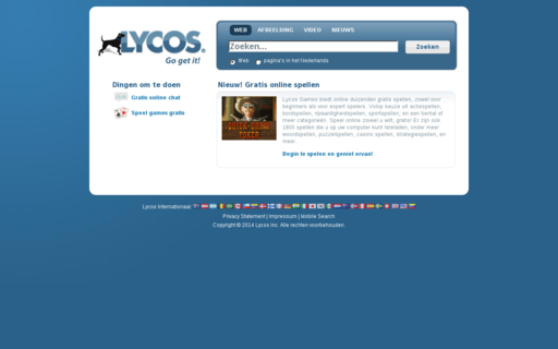 Access lycos.nl using Hola Unblocker web proxy