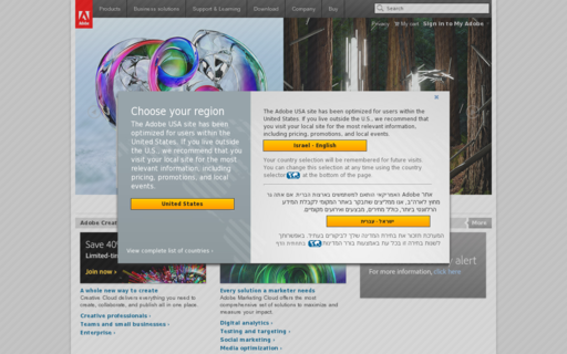 Access macromedia.com using Hola Unblocker web proxy