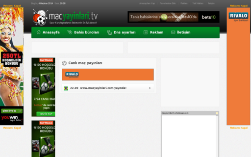 Access macyayinlari.tv using Hola Unblocker web proxy