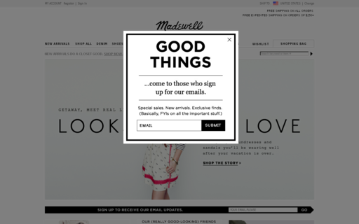 Access madewell.com using Hola Unblocker web proxy