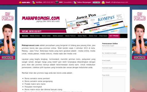 Access mahapromosi.com using Hola Unblocker web proxy