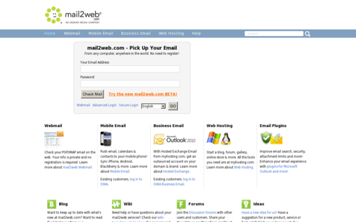 Access mail2web.com using Hola Unblocker web proxy