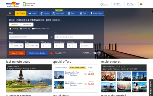 Access makemytrip.com using Hola Unblocker web proxy
