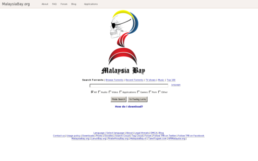Access malaysiabay.org using Hola Unblocker web proxy