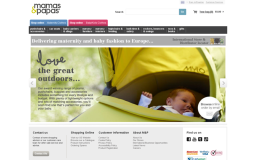 Access mamasandpapas.com using Hola Unblocker web proxy