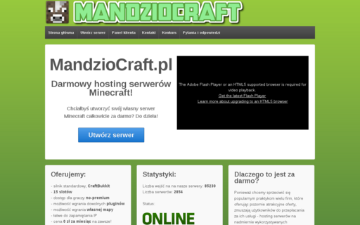 Access mandziocraft.pl using Hola Unblocker web proxy