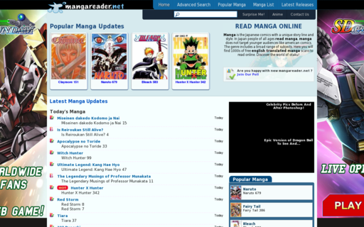 Access mangareader.net using Hola Unblocker web proxy