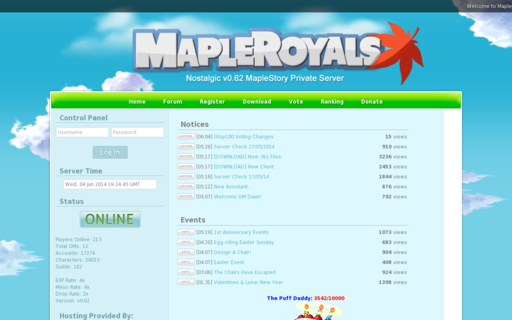 Access mapleroyals.com using Hola Unblocker web proxy