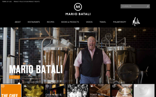 Access mariobatali.com using Hola Unblocker web proxy
