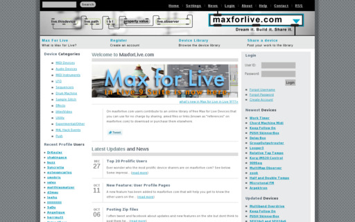 Access maxforlive.com using Hola Unblocker web proxy