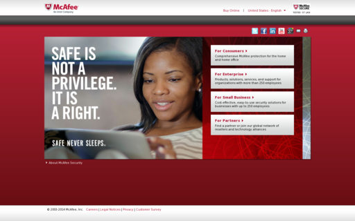 Access mcafee.com using Hola Unblocker web proxy