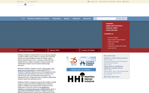 Access mcmasterchildrenshospital.ca using Hola Unblocker web proxy
