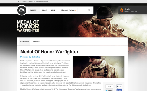 Access medalofhonor.com using Hola Unblocker web proxy