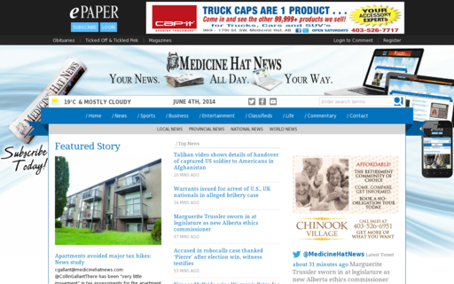 Access medicinehatnews.com using Hola Unblocker web proxy